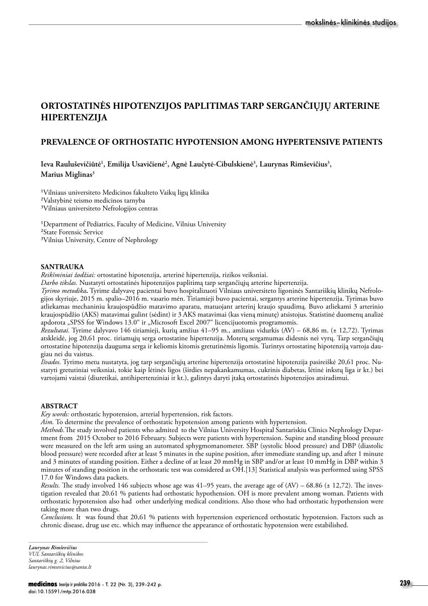PSO duomenys apie hipertenziją hipertenzijos institutas