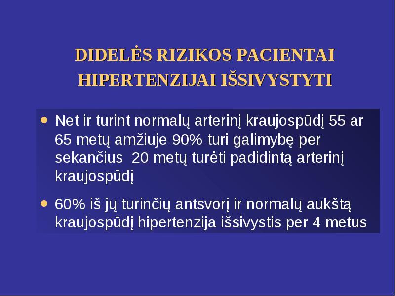hipertenzija 25 metai