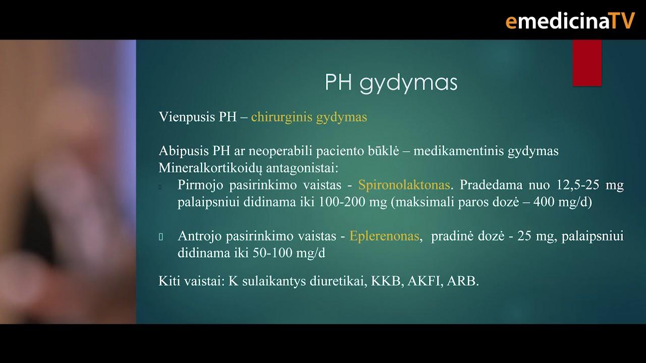 endokrininės hipertenzijos gydymas