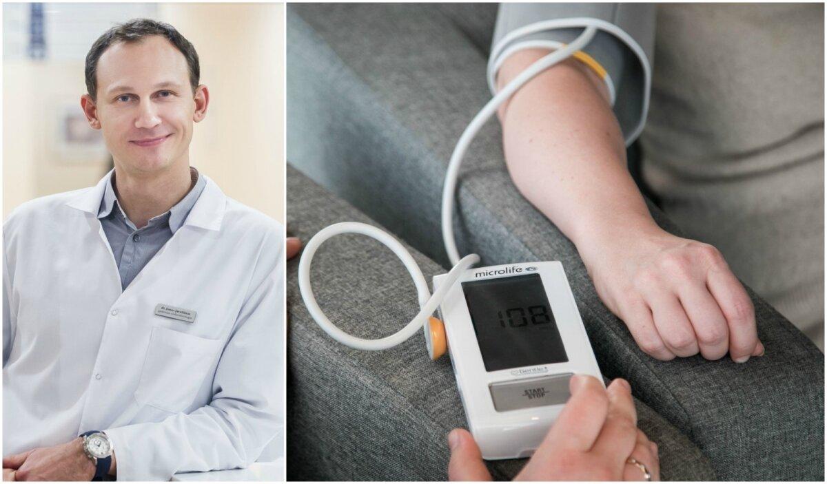 kaip nustatyti hipertenziją pagal dugną