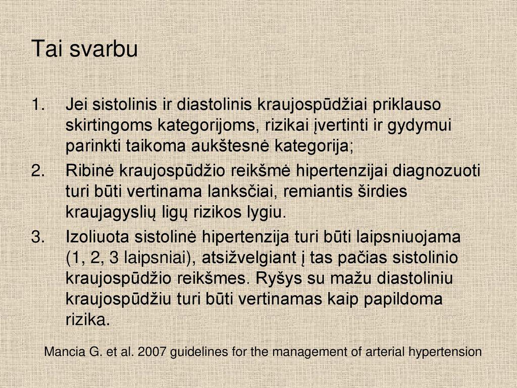 kas yra 2 hipertenzijos rizika