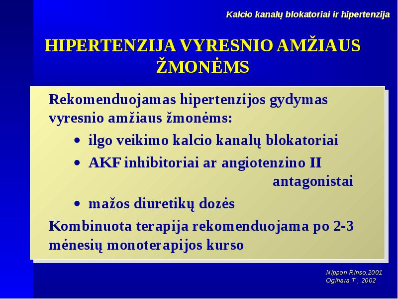 Kursas: Arterinė hipertenzija ir hipertenzinė širdies, inkstų, smegenų liga