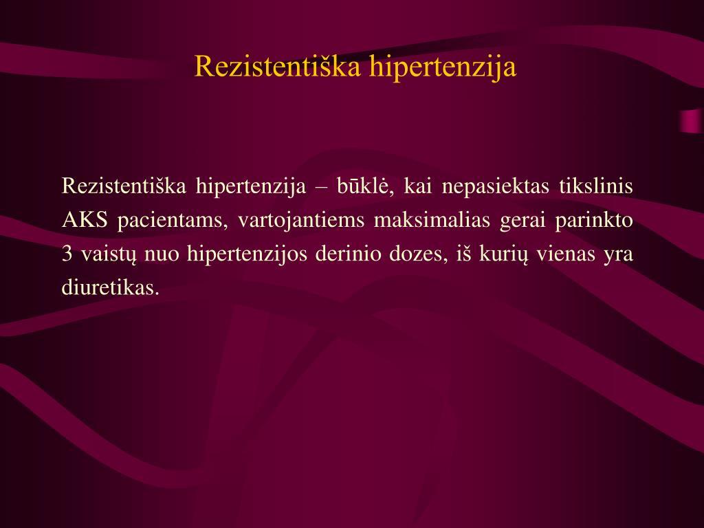 hipertenzija yra vertinga hipertenzija kalcio