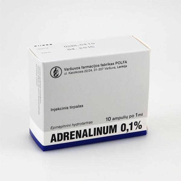 adrenalinas nuo hipertenzijos