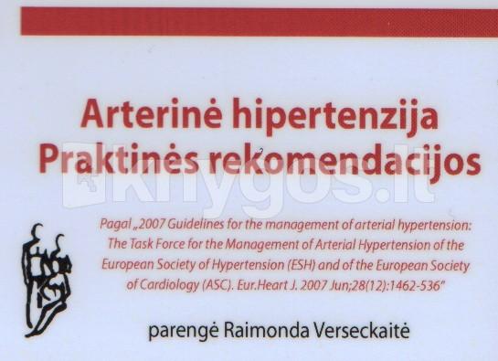 atsikratyti garsinės hipertenzijos knygos