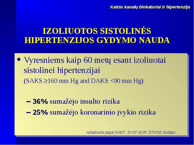 hipertenzija 3 rizikos etapai