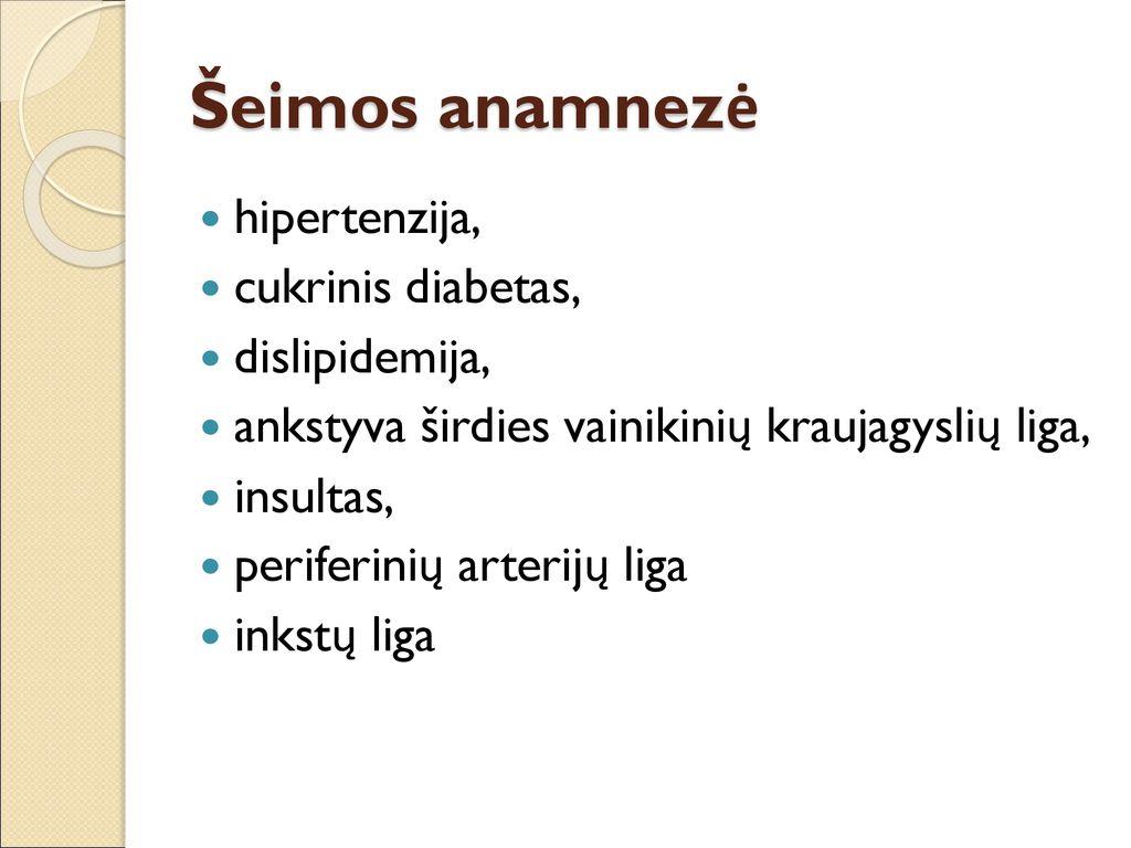 vaistai nuo hipertenzijos ir diabeto