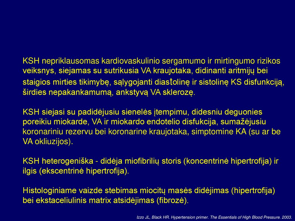 antsvorio hipertenzija